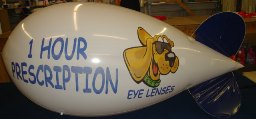 advertising blimp - 11 ft. helium polyurethane blimp with logo - 11 ft. blimp with logo from $725.00