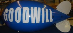 11 ft. advertising blimp with Goodwill logo
